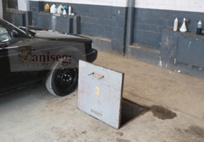 Cisterna sin muro de contencion para evitar ingreso de liquidos indeseados saniseg