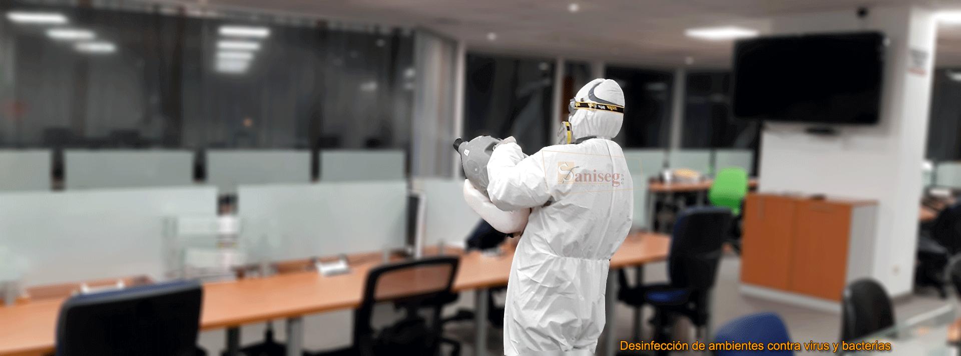 desinfeccion de ambientes en oficinas